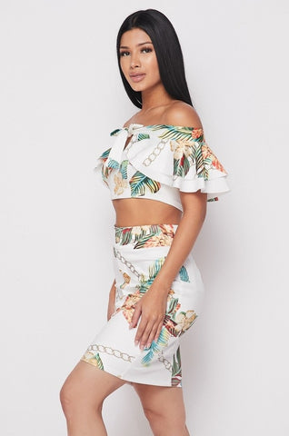Lainey 2-Piece Floral Skirt Set
