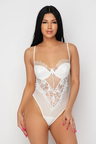 White Lace Bodysuit