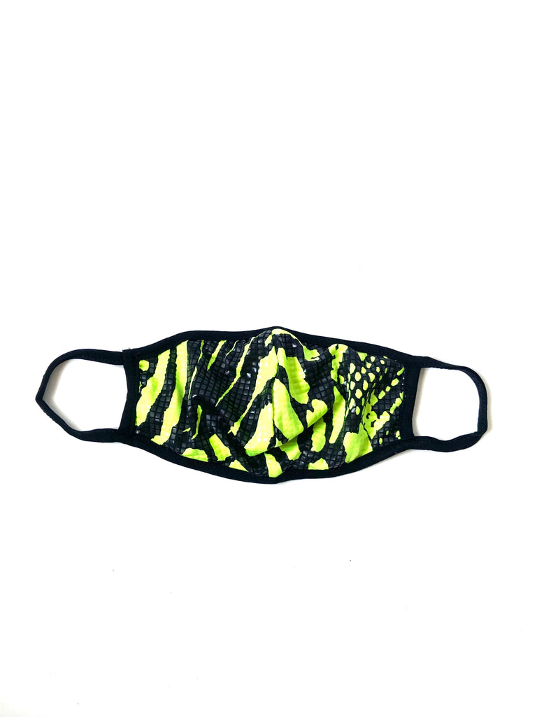 Neon Green Snakeskin Mask