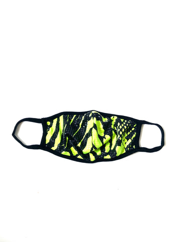 Image of Neon Green Snakeskin Mask