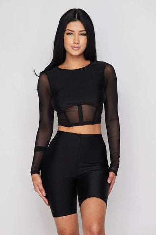 Image of Black 2-Piece Short Set