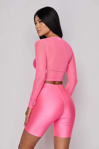 Image of Neon Pink 2-Piece Short Set