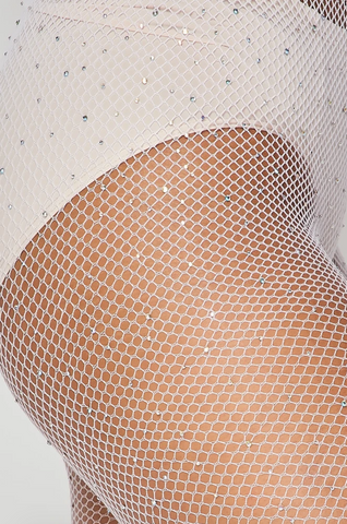 Image of Rhinestone Fishnet Tights