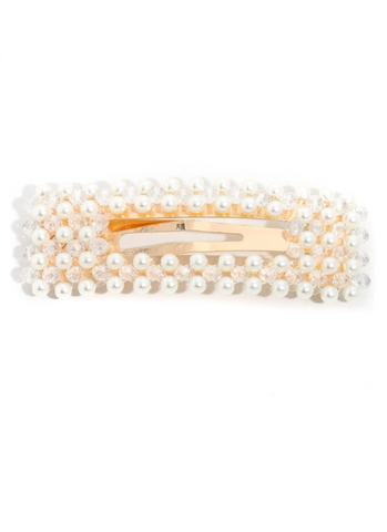 Image of Rectangular Pearly Hair Clip