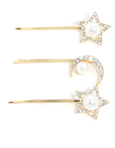 3-Piece Stars Moon Clip Set