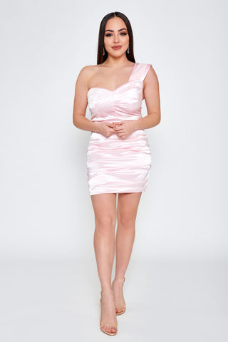 Image of Ella Satin Mini Dress