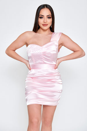 Ella Satin Mini Dress