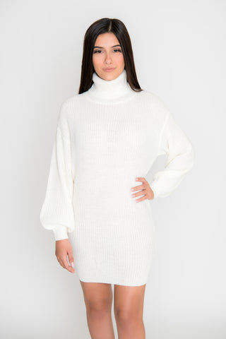 Image of Sofia Sweater Dress - Ivory