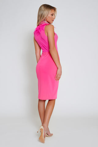 Molly Midi Dress - Fuschia