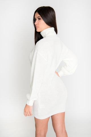 Sofia Sweater Dress - Ivory