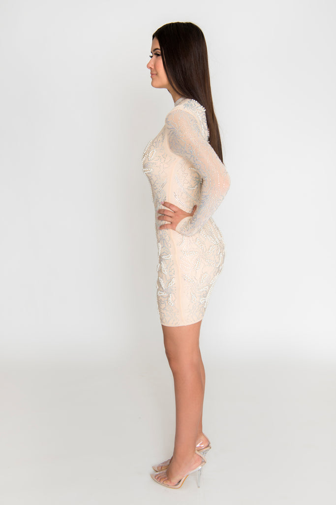 Amaya Pearl Dress - Ivory