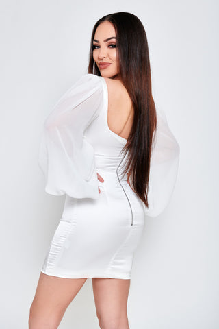 Vivian Satin Dress - White
