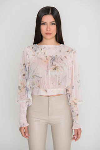 Image of Annabelle Floral Top - Pink