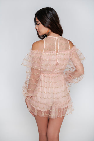 Image of Isabella Tulle Romper - Mauve