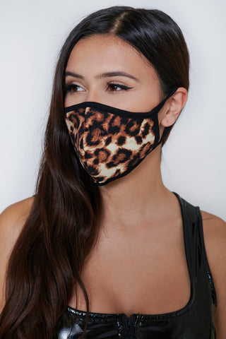Image of Leopard Face Mask
