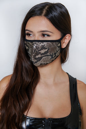 Brown Snakeskin Mask