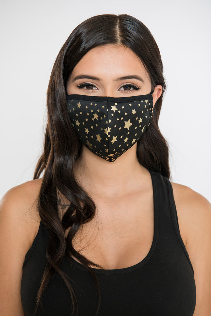 Star Face Mask - Gold/Black
