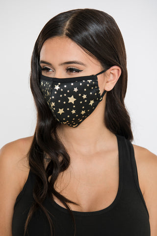 Image of Star Face Mask - Gold/Black