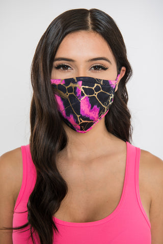 Image of Marble Face Mask - Pink