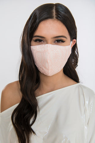Lace Face Mask - Blush