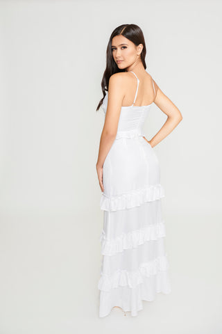 Abby Maxi Dress - White