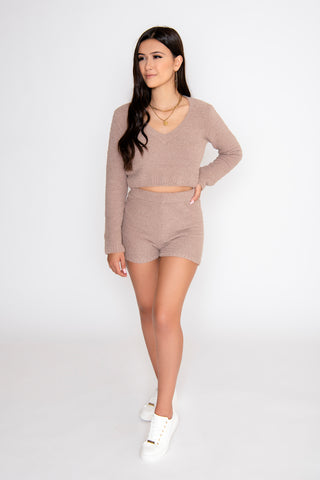Image of Sienna 2-Piece Short Set - Taupe