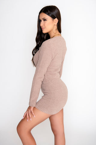 Sienna 2-Piece Short Set - Taupe