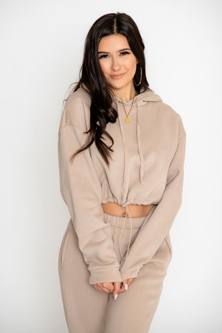 Mya 2-Piece Pant Set - Taupe