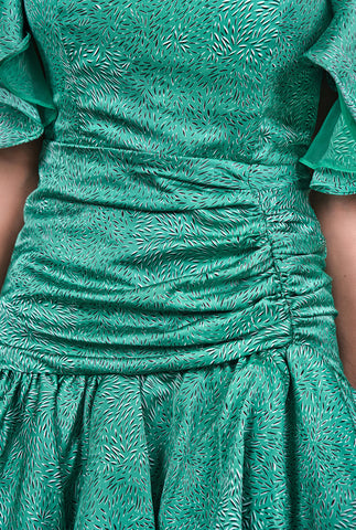 Maliyah Green Ruffle Dress
