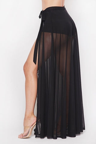 Amora Cover Up Skirt - Black
