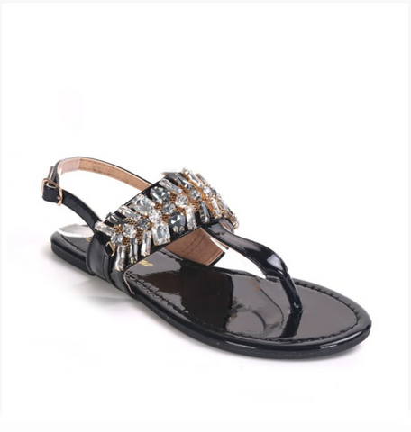Image of Jeweled Holographic Sandals