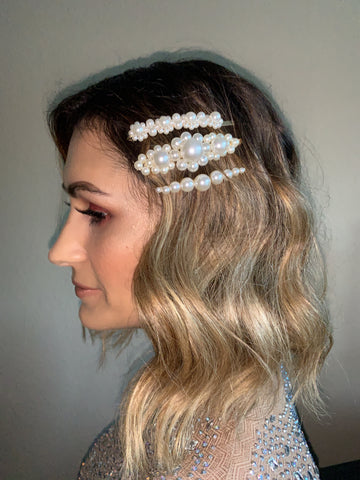 Pearl Studded Hair Pin Set