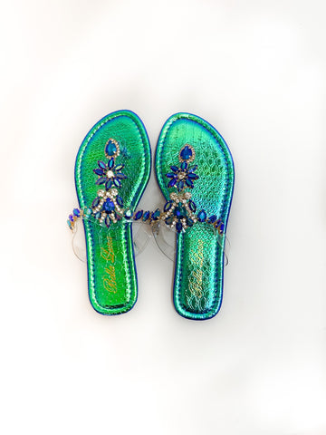 Iridescent Crystal Sandals