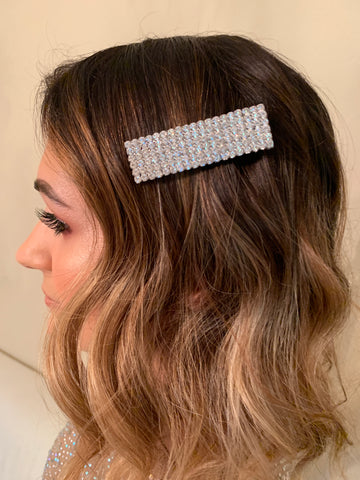 Studded Rectangular Hair Clip
