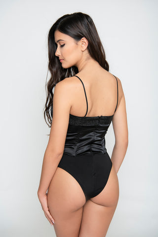 Adalyn Studded Bodysuit - Black
