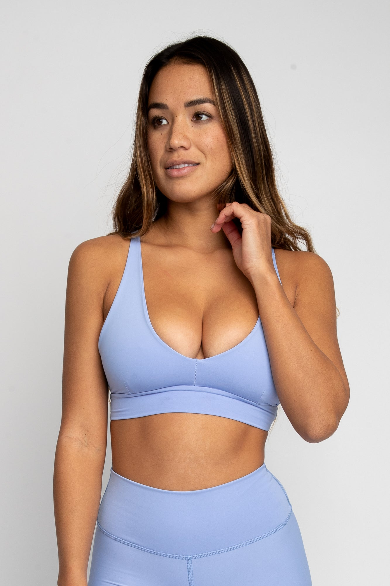 Amber Sports Bra - Periwinkle