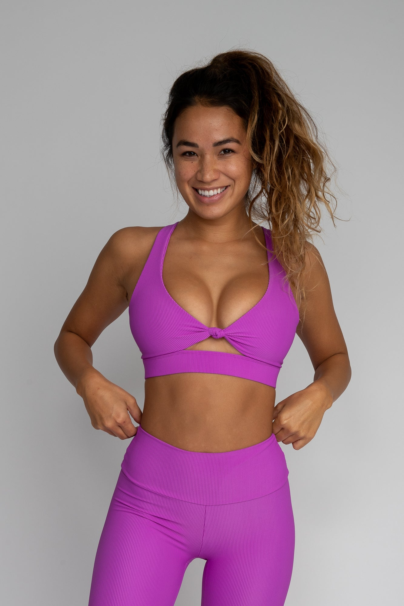 Georgie Sports Bra - Neon Purple