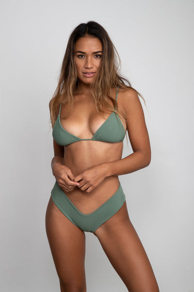 Mandi Bottom - Green Ribbed
