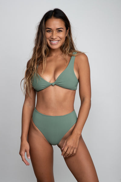 Penny Top - Green Ribbed