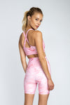 Savana Bike Short - Pink Marble