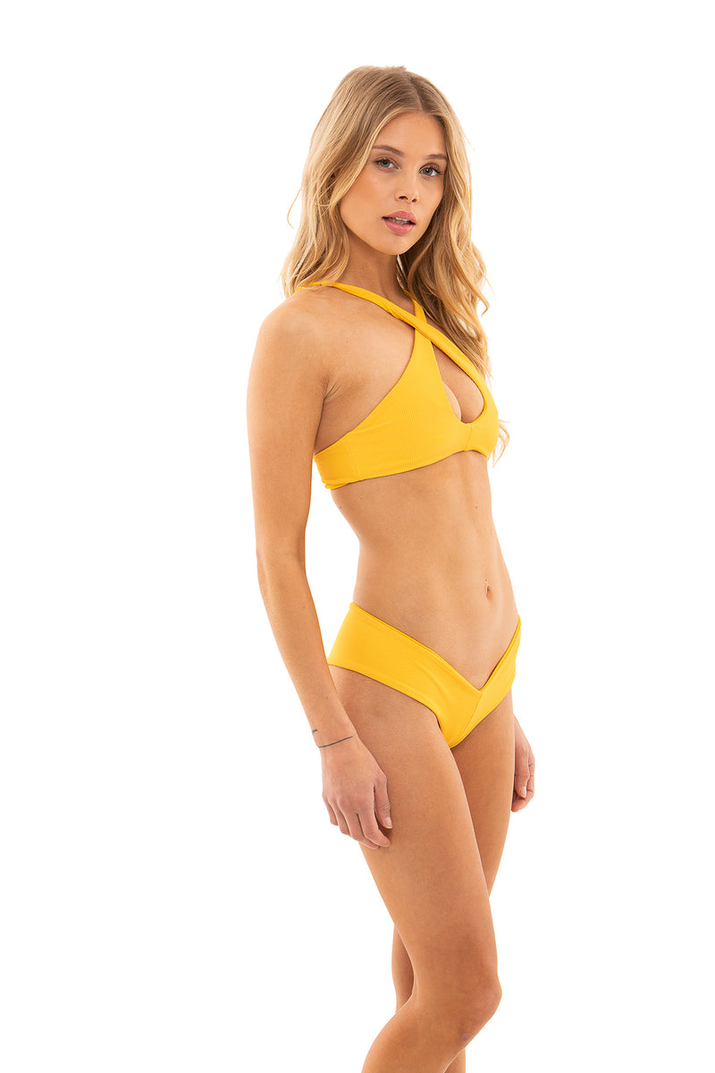Mandi Bottom - Yellow Ribbed