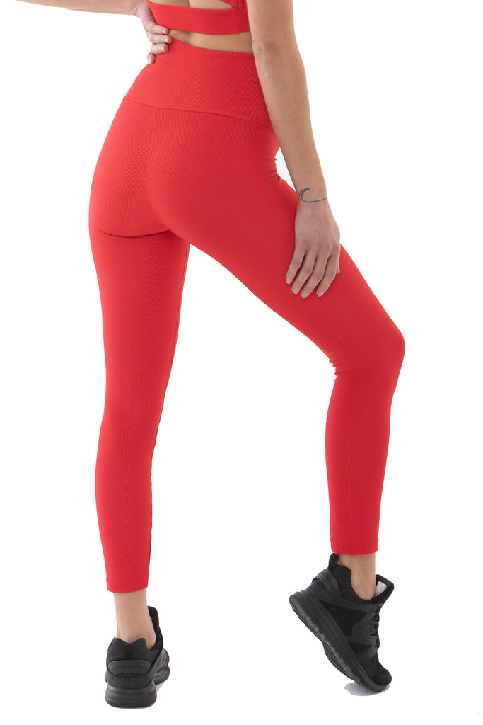 Savana Legging - Red Ribbed