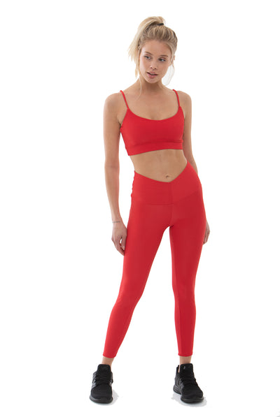 Bodhi Sports Bra - Red Ribbed