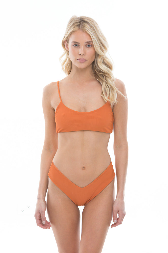 Bodhi Top - Rust Ribbed