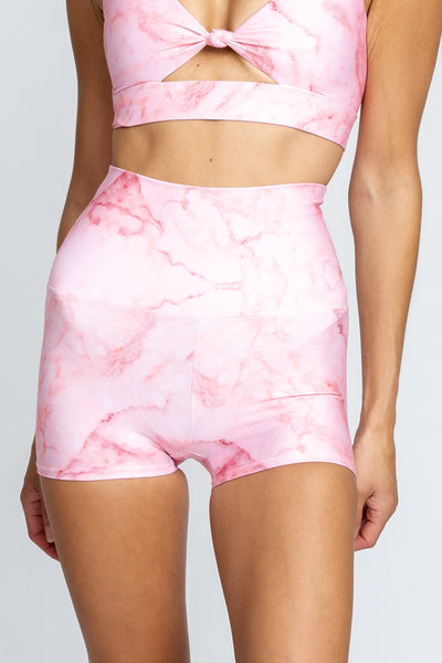 Cece Booty Short - Pink Marble