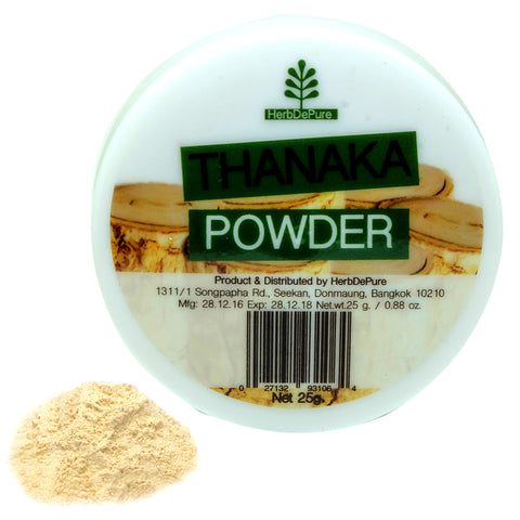 Thanaka Face Powder Reduces Dark Spot Treatment & Melasma Natural Herbal Best for Anti Acne 25g. / 0.88oz. by HerbDePure