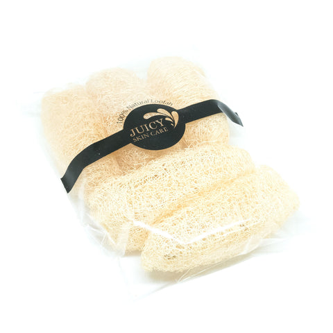100% Natural Premium Exfoliating mini Loofah is easy for your armpits or groin area and hand the Scrubber with Natural Luffa Pack of 5 Pcs. By Juicy Skin Care