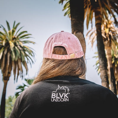 BLVK Box Dad Hat (Washed Maroon)