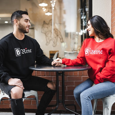 B Mine Crewneck Sweater (BLACK)