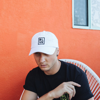 BLVK Box Dad Hat (White)